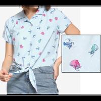 【USA直輸入】DISNEY 眠れる森の美女 妖精 フローラ・フォーナ・メリーウェザー 半袖 シャツ 開襟シャツ ディズニー オーロラ姫 ボタンアップ