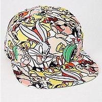 【USA直輸入】looney tunes ルーニーチューンズ キャラクター 総柄 キャップ スナップバック 帽子 ハット ルーニー バックスバニー