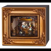 【USA直輸入】DISNEY ピノキオ ギャラリー オブ ライト by オルショウスキー ミニチュア ジオラマ スタチュー フィギュア ディズニー ゼペット フィガロ Olszewski