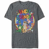 【USA直輸入】アンクルグランパ キャラクター グレー Tシャツ カートゥーンネットワーク カートゥーン おっはよー!アンクル・グランパ