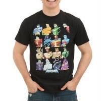 【USA直輸入】DC ジャスティリーグ キャスト スクエア Tシャツ DCコミックス