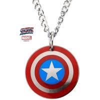 【USA直輸入】MARVEL キャプテンアメリカ 盾 シールド ネックレス ペンダント マーベル アベンジャーズ  Captain America  ロゴ キャプテン アメリカ