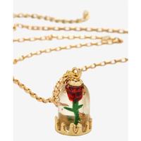 【USA直輸入】Disney 美女と野獣 魔法のバラ ガラスドーム ネックレス ディズニー アクセサリー プリンセス バラ ベル Enchanted Rose