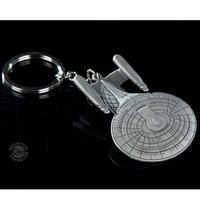 【USA直輸入】スタートレック U.S.S. Enterprise NCC-1701  D エンタープライズ キーチェーン スタトレ  Star Trek TNG  新スタートレック