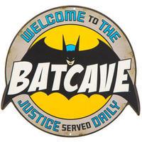 【USA直輸入】DCコミックス バットマン シンボル バットケーブ ロゴ マーク エンボス ダイカット メタルサイン ウォールデコ  ブリキ看板 看板  BATCAVE DC
