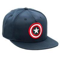 【USA直輸入】MARVEL キャプテンアメリカ ブルー シールド ロゴ ハット キャップ 帽子 スナップバック