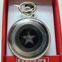 【USA直輸入】MARVEL キャプテンアメリカ シールド 懐中時計 マーベル 正規ライセンス   ロゴ Captain America Shield  腕時計