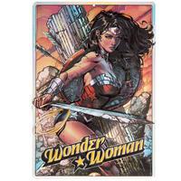 【USA直輸入】DC ワンダーウーマン コミック ブリキ看板 壁掛け プリズム メタルサイン 看板 インテリア