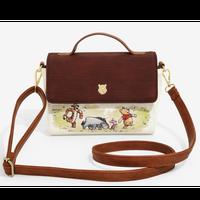 【USA直輸入】DISNEY クマのプーさん ショルダーバッグ ハンドバッグ プー & ティガ & イーヨー & ピグレット ディズニー ラウンジフライ  Loungefly 肩掛け バッグ