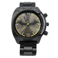 【USA直輸入】DCコミックス バットマン ブラック シンボル ロゴ リストウォッチ メタルバンド 腕時計 正規ライセンス ロビン バットマン Batman DC