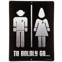 【USA直輸入】スタートレック To Boldly Go トイレ ブリキ看板  エンボス加工 ブリキ 看板 メタルサイン ポスター   壁掛け インテリア  スタトレ Star Trek