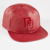 【USA直輸入】MARVEL デアデビル ロゴ キャップ 帽子 フェイクレザー マーベル