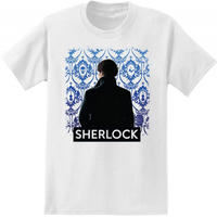 【USA直輸入】SHERLOCK シャーロック バック 壁紙 Tシャツ 後ろ姿 221B カンバーバッチ BBC ベーカーストリート ジョン ホームズ   ワトソン