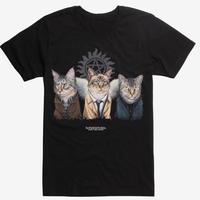【USA直輸入】スーパーナチュラル ジェニイパーク 公園 キャッツ 猫 Tシャツ Supernatural  ネコ カスティエル ディーン サム ロゴ