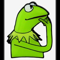 【USA直輸入】DISNEY マペッツ カーミット 考えるカーミット エナメル ピン ディズニー  The  Muppets  KERMIT THE FROG カエル ピンズ ピンバッチ ピンバッジ