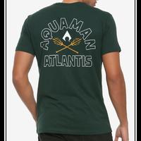 【USA直輸入】DC アクアマン アトランティス トライデント ロゴ Tシャツ Sサイズ ジャスティスリーグ ジェイソン モモア DCコミックス Aquaman  Atlantis