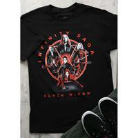 【USA直輸入】MARVEL ブラックウィドウ インフィニティ サーガ Tシャツ マーベル MCU 歴代 black widow  アベンジャーズ