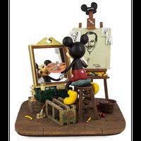 【USA直輸入】DISNEY ミッキーマウス セルフ ポートレート スタチュー フィギュア 置物 ディズニー ミッキー 絵の具