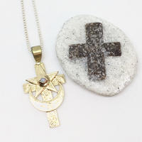 MOON&STAR CROSS  necklace(GOLD)