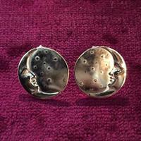 三日月と星屑のピアスSMALL両耳セット(両眼ダイヤモンド)