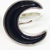 BLACK CRESCENT  RING