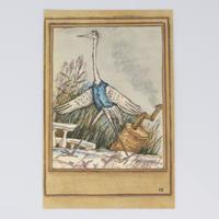 旧ソ連「アオサギとツル」 ポストカード 1982年⑩