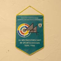旧東ドイツ エンブレムペナント 射撃ワールドカップ 1986年