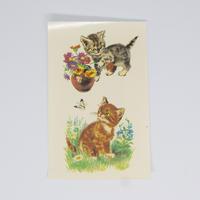 旧東ドイツ 水シール 猫③