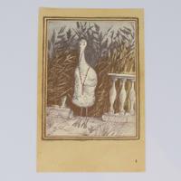 旧ソ連「アオサギとツル」 ポストカード 1982年⑤