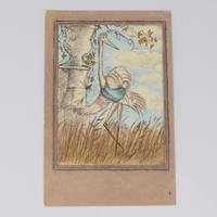 旧ソ連「アオサギとツル」 ポストカード 1982年①