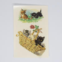 旧東ドイツ 水シール 猫④
