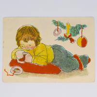 チェコ ポストカード クリスマス 子ども
