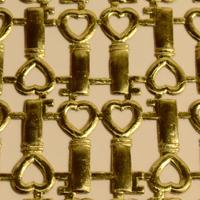 ドイツ ドレスデン ホイル ハートの鍵 8セット