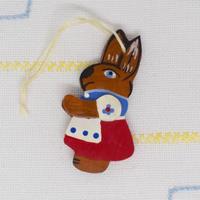 ドイツ ウサギのオーナメント 赤スカート