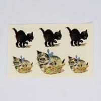 旧東ドイツ 水シール 猫②
