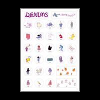 DENIMS / 妖怪大集合ステッカーシート