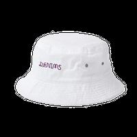 DENIMS / ロゴ刺繍バケットハット(白)
