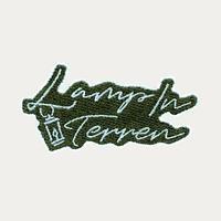 LAMP IN TERREN / サインロゴワッペンステッカー(グリーン)