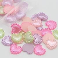 Shiny heart pearl parts × 40piece