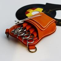 1a4666981e オリジナル レザーシザーケース ラウンディッシュフォルム / キャメル Original handmade Leather Scissors case