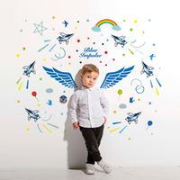 ブルーインパルスウォールステッカー 天使の羽