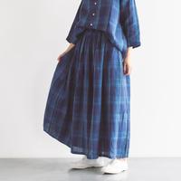 リネンチェックギャザースカート / Heavenly ヘブンリー / 2123121