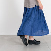 Heavenly 2024102 Linen Chambray Tuck&Gather Skirt