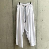 my beautiful landlet - TECHNO WIDE EASY PANTS [ WHT ]