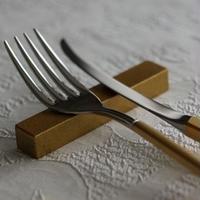 ナイフ&フォークレスト  2個set   ゴールド/シルバー
