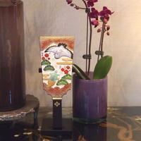 錦彩 羽子板(飾り台付き)