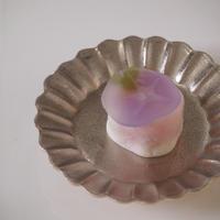 菊型小皿 プラチナ