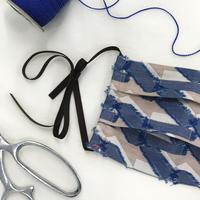 ポルスマスク C/#ブルー 播州織 洗えるマスク MSK-20AP-01-BLUE