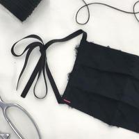 数量限定 ポルスマスク C/#ブラック 播州織 洗えるマスク MSK-20AP-01-BLACK