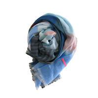 極細コットン播州織ストール ボーダーM SBM-0001 BLUE